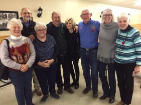 (left to right) Jane Campbel, Bob Hamper, Mary Carty, Brian Drake, Carol Drake, Bill Murray, Samdra Murray, Sandra Jougel