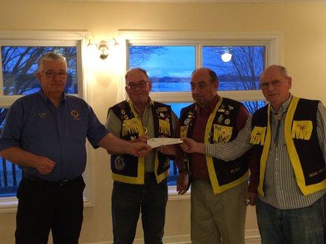 Elgin Lions Club Donates $2,000 To Westport Lions Mobility Van Program