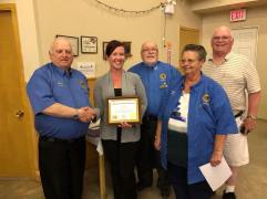 Janice Taite is inducted into the Elgin Lions Club